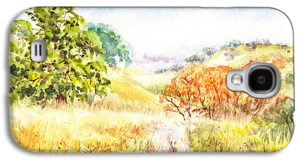 Maple Season Paintings Galaxy S4 Cases - Fall Landscape Briones Park California Galaxy S4 Case by Irina Sztukowski