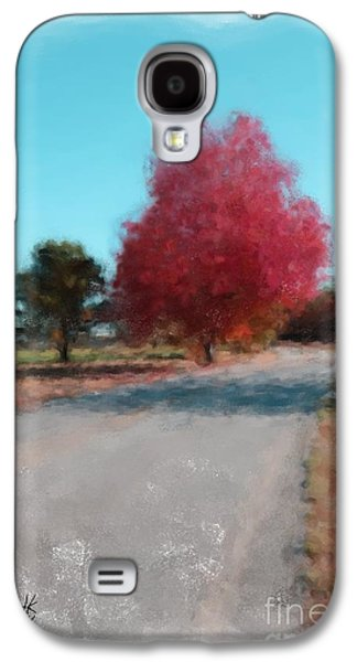 Maine Roads Paintings Galaxy S4 Cases - Fall Maine Road 1074 20141006 Galaxy S4 Case by Julie Knapp