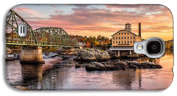Photography Prints Galaxy S4 Cases - Fall Morning Across from the Bowdoin Mill Galaxy S4 Case by Benjamin Williamson