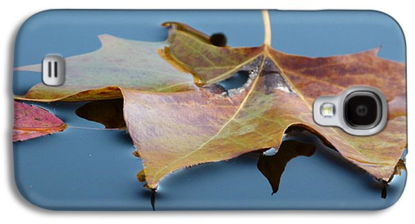 Autumn Leaf On Water Galaxy S4 Cases - Fall Reflections Galaxy S4 Case by Jane Ford