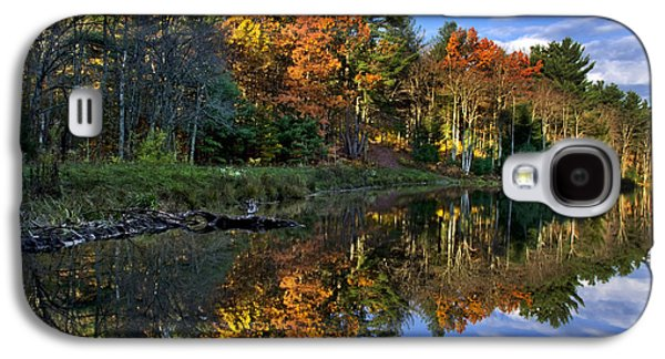 Fall Trees Fall Color Galaxy S4 Cases - Fall Reflections Landscape Galaxy S4 Case by Christina Rollo