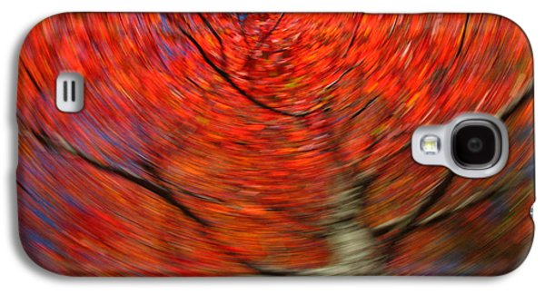 Abstract Landscape Photographs Galaxy S4 Cases - Fall Tree Carousel Galaxy S4 Case by Juergen Roth