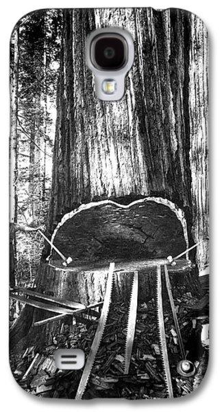 Falling A Giant Sequoia C. 1890 Galaxy S4 Case by Daniel Hagerman