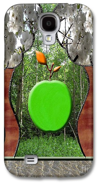 Surreal Landscape Mixed Media Galaxy S4 Cases - Falling Apple Galaxy S4 Case by Patrick J Murphy