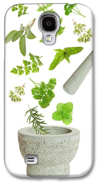 Medicine Photographs Galaxy S4 Cases - Falling Herbs Galaxy S4 Case by Amanda And Christopher Elwell
