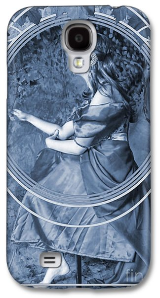 Painter Digital Art Galaxy S4 Cases - Falling Leaves Cyanotype Galaxy S4 Case by John Edwards