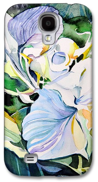 Angel Blues Drawings Galaxy S4 Cases - Falling Orchids Galaxy S4 Case by Mindy Newman
