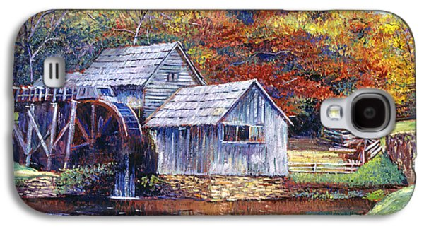 Split Rail Fence Galaxy S4 Cases - Falling Water Mill House Galaxy S4 Case by David Lloyd Glover