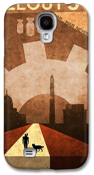 Dogs Digital Galaxy S4 Cases - Fallout 3 Galaxy S4 Case by Anton Lundin