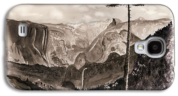 El Capitan Paintings Galaxy S4 Cases - Falls of the Yosemite Painting Galaxy S4 Case by Warren Thompson