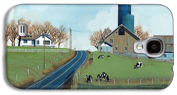 Silos Galaxy S4 Cases - Family Dairy Galaxy S4 Case by John Wyckoff