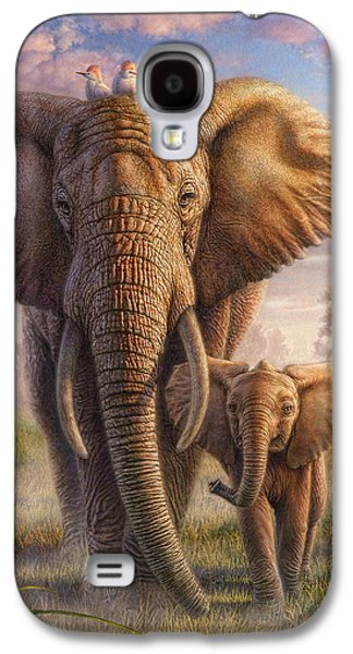 Sun Mixed Media Galaxy S4 Cases - Family Stroll Galaxy S4 Case by Phil Jaeger