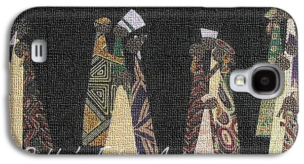 People Tapestries - Textiles Galaxy S4 Cases - Family Traditions Galaxy S4 Case by Ruth Yvonne Ash