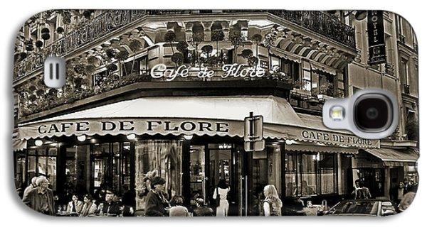 Wine Service Galaxy S4 Cases - Famous Cafe de Flore - Paris Galaxy S4 Case by Carlos Alkmin