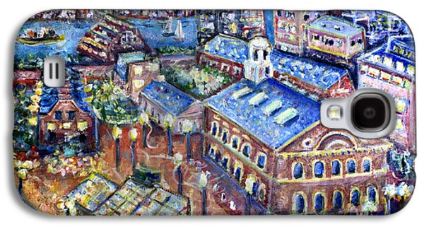 Red Sox Paintings Galaxy S4 Cases - Faneuil Hall Galaxy S4 Case by Jason Gluskin