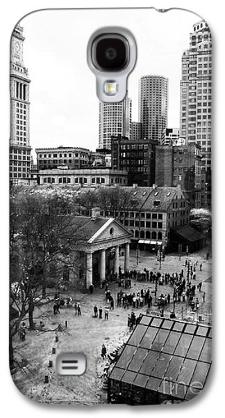 Monotone Galaxy S4 Cases - Faneuil Hall Marketplace Galaxy S4 Case by John Rizzuto