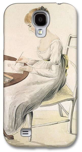 Fantasy Photographs Galaxy S4 Cases - Fanny Austen-knight 1793-1882 Wc On Paper Galaxy S4 Case by Cassandra Austen