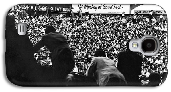 Fans In The Bleachers During A Baseball Game At Yankee Stadium Galaxy S4 Case by Underwood Archives