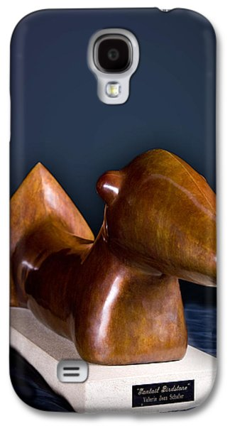 Native Sculptures Galaxy S4 Cases - Fantail Birdstone Galaxy S4 Case by Valerie Jean Schafer