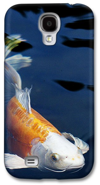 Fish Pond Galaxy S4 Cases - Fantail Girl Galaxy S4 Case by Rebecca Cozart
