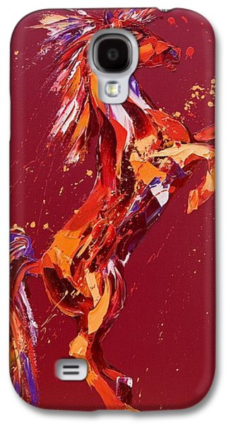 Wild Horse Paintings Galaxy S4 Cases - Fantasia Galaxy S4 Case by Penny Warden