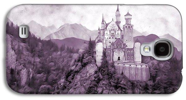Fantasy Mixed Media Galaxy S4 Cases - Fantasy Castle Galaxy S4 Case by Dan Sproul