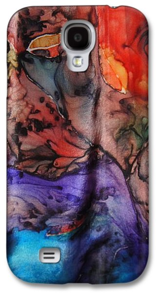 Abstract Tapestries - Textiles Galaxy S4 Cases - Silk-12 Galaxy S4 Case by Julia Shapiro