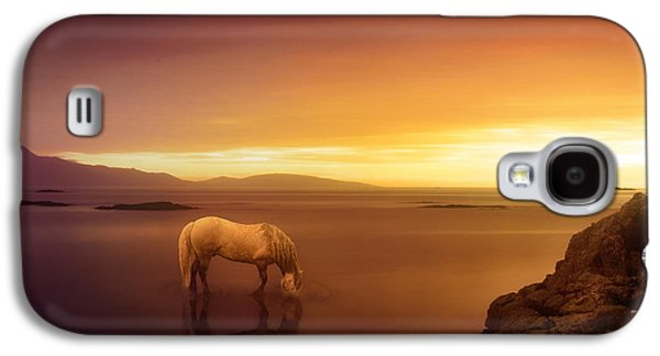 Horse Digital Galaxy S4 Cases - Fantasy Land Galaxy S4 Case by Jennifer Woodward