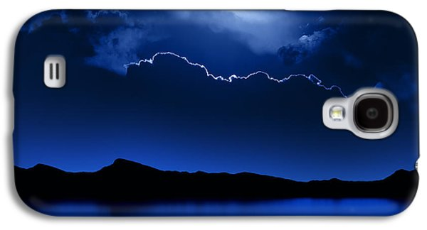 Dark Digital Art Galaxy S4 Cases - Fantasy Moon and Clouds over water Galaxy S4 Case by Johan Swanepoel