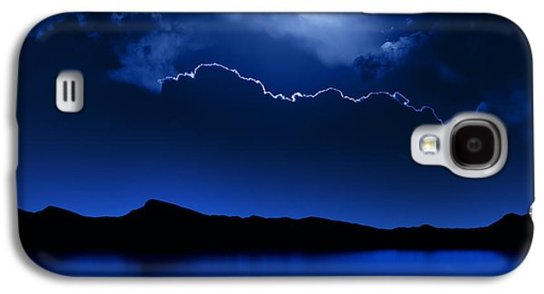 Nature Abstract Galaxy S4 Cases - Fantasy Moon and Clouds over water Galaxy S4 Case by Johan Swanepoel