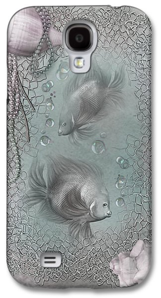 Bathroom Prints Galaxy S4 Cases - Fantasy Ocean 1 Galaxy S4 Case by Carol Cavalaris
