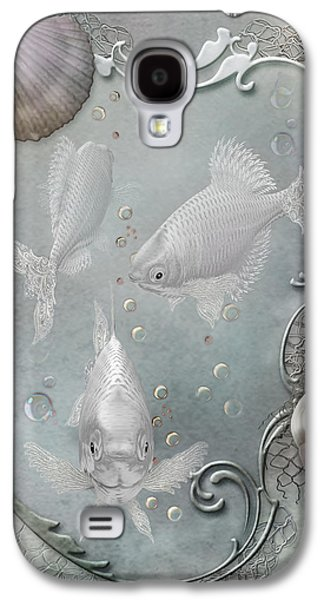 Bathroom Prints Galaxy S4 Cases - Fantasy Ocean 2 Galaxy S4 Case by Carol Cavalaris