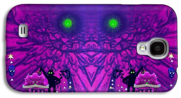 Smiling Mixed Media Galaxy S4 Cases - Fantasy skull forest Galaxy S4 Case by Pepita Selles