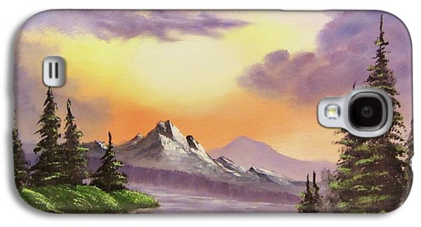 Bob Ross Paintings Galaxy S4 Cases - Sun and Shadow Galaxy S4 Case by Gavin Kutil