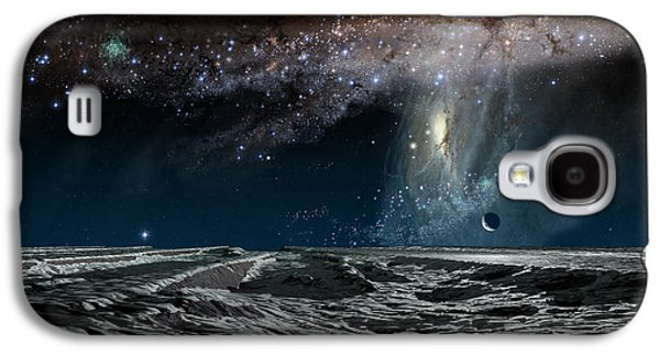 Galaxy Paintings Galaxy S4 Cases - Far Future Earth Galaxy S4 Case by Don Dixon