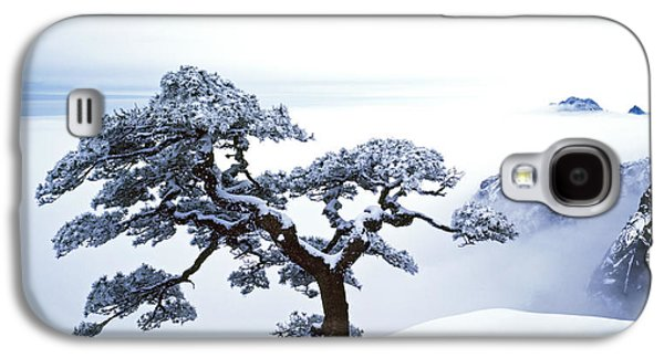 Winter Scene Galaxy S4 Cases - Fare-Well Pine Tree Galaxy S4 Case by King Wu