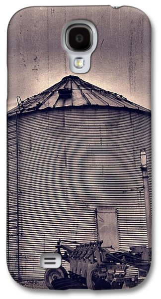 Machinery Galaxy S4 Cases - Farm Equipment And Silo Galaxy S4 Case by Dan Sproul