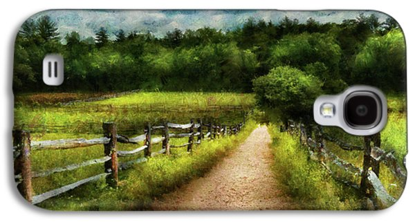 Farmers Field Galaxy S4 Cases - Farm - Fence - Every journey starts with a path  Galaxy S4 Case by Mike Savad