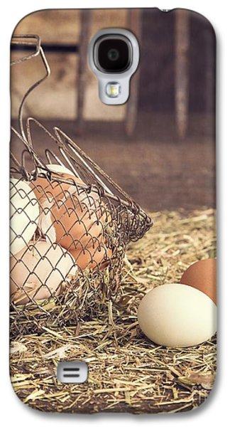 Rustic Galaxy S4 Cases - Farm Fresh Eggs Galaxy S4 Case by Edward Fielding