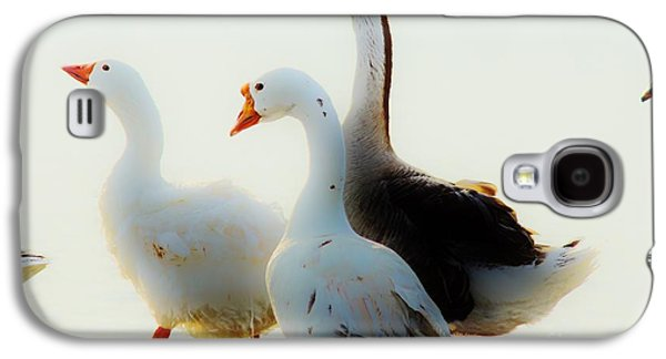 Farm Geese Galaxy S4 Case by Lynda Dawson-Youngclaus