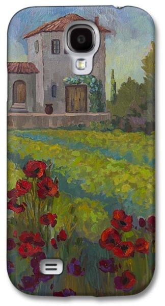 Sienna Italy Galaxy S4 Cases - Farm in Sienna Galaxy S4 Case by Diane McClary