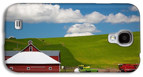 Machinery Galaxy S4 Cases - Farm Machinery Galaxy S4 Case by Inge Johnsson