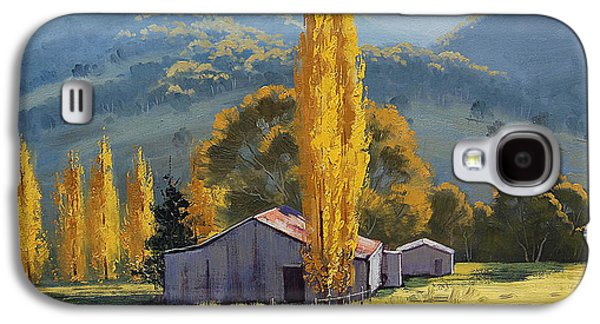 Shed Paintings Galaxy S4 Cases - Farm sheds Painting Galaxy S4 Case by Graham Gercken