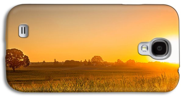 Contemplative Photographs Galaxy S4 Cases - Farm sunset Galaxy S4 Case by Kunal Mehra