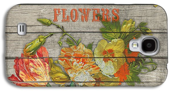 Locally Grown Galaxy S4 Cases - Farm to Table Flowers-JP2633 Galaxy S4 Case by Jean Plout