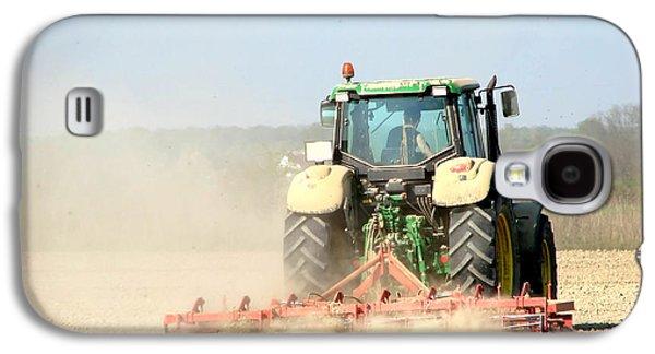Agronomy Photographs Galaxy S4 Cases - Farm tractor Galaxy S4 Case by Dan Radi