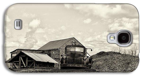 Farm Truck Galaxy S4 Cases - Farm Truck - 1941 Chevy in Sepia Galaxy S4 Case by Bill Cannon