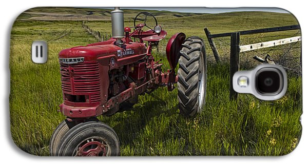 Tractor Prints Galaxy S4 Cases - Farmall Tractor model H on the Prairie Galaxy S4 Case by Randall Nyhof
