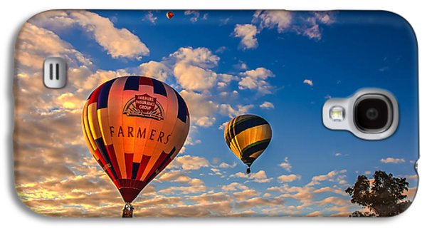 Best Sellers -  - Haybale Galaxy S4 Cases - Farmers Insurance Hot Air Ballon Galaxy S4 Case by Robert Bales