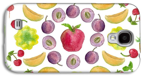 Plum Drawings Galaxy S4 Cases - Farmers Market Galaxy S4 Case by Cathie Richardson